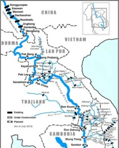 MAP-Existing & planned-Dams-Mekong-via Save-the-Mekong.org-Nov 2015