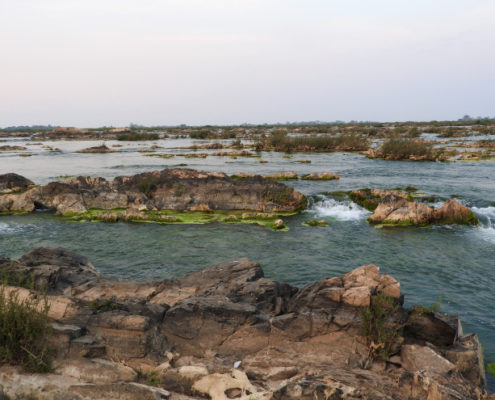 Putrid Water - Preah NiMitt Falls, Cambodia (Sopheak Mitt in Laos) - Preah Rumkel/ Don Sahong Dam Area
